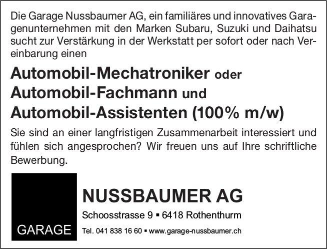 Automobil-Mechatroniker / Automobil-Fachmann & Automobil-Assistent (100% m/w), Garage Nussbaumer AG