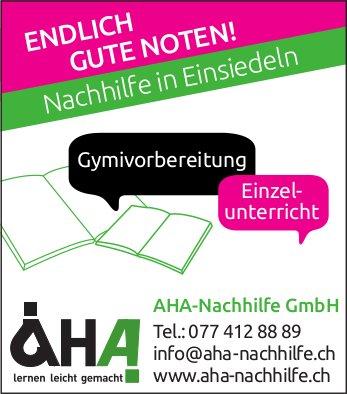 Endlich gute Noten! AHA-Nachhilfe GmbH
