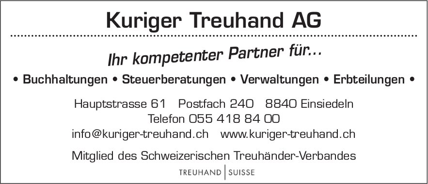 Kuriger Treuhand AG