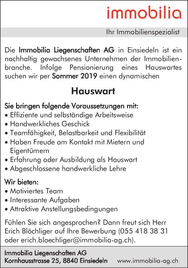 Hauswart, Immobilia Liegenschaften AG