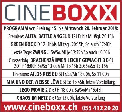Cineboxx, 15. - 20. Feb.