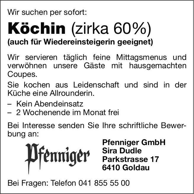 Köchin (zirka 60%), Pfenniger GmbH