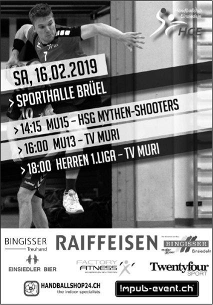 Spielplan HCE, 16.02., Sporthalle Brüel