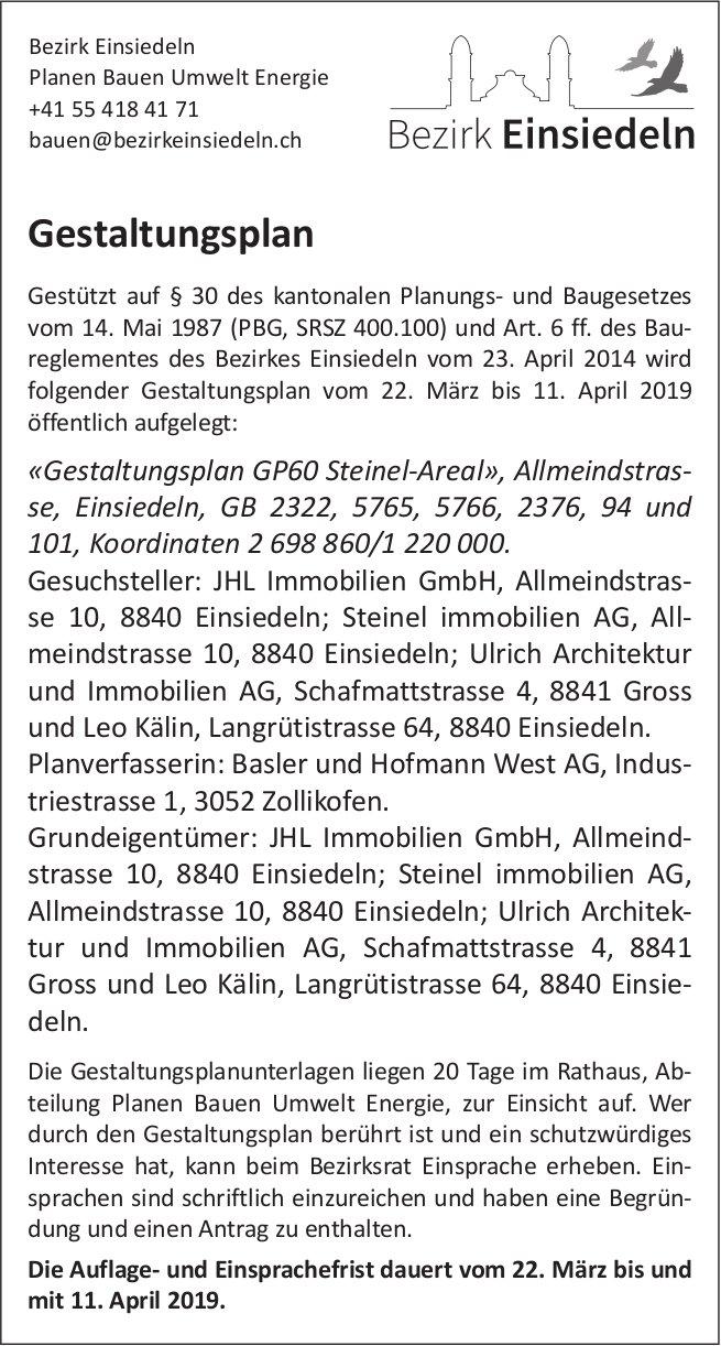 Bezirk Einsiedeln, Gestaltungsplan