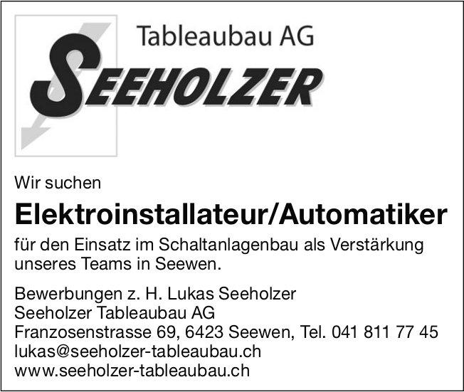 Elektroinstallateur/Automatiker, Seeholzer Tableaubau AG, Seewen, gesucht