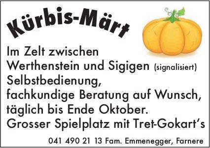 Kürbis-Märt - Im Zelt zwischen Werthenstein und Sigigen