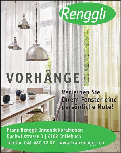 Franz Renggli Innendekorationen, Entlebuch - VORHÄNGE
