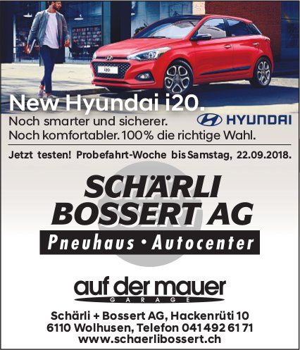 SCHÄRLI BOSSERT AG, Wolhusen - New Hyundai i20