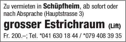 Estrichraum, Schüpfheim, zu vermieten