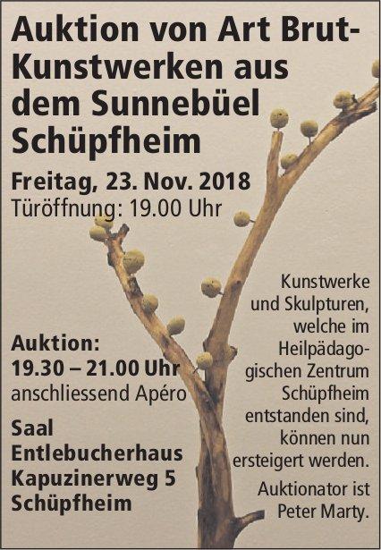 Auktion von Art Brut-Kunstwerken aus dem Sunnebüel, 23. November,  Schüpfheim