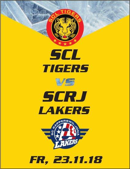 Spiel SCL TIGERS vs. SCRJ LAKERS, 23. November