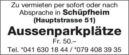 Aussenparkplätze, Schüpfheim, zu vermieten