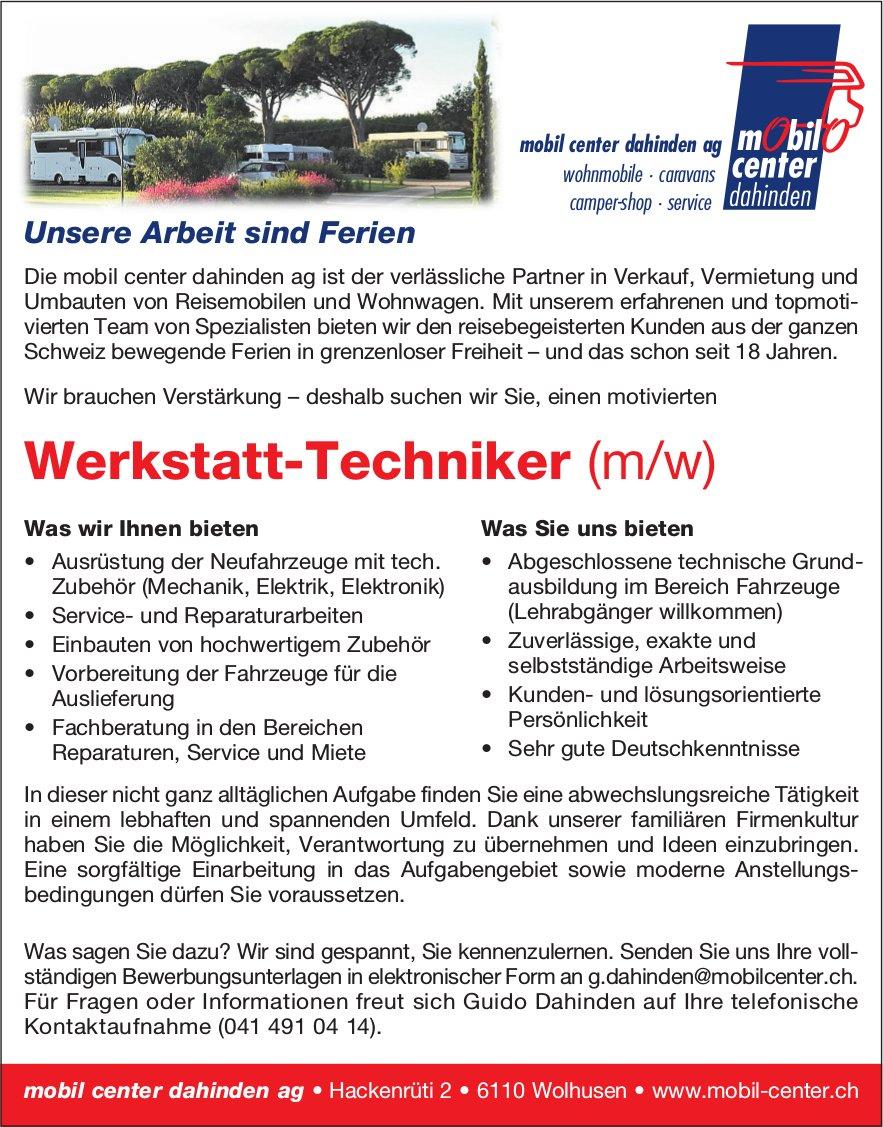 Werkstatt-Techniker (m/w), mobil center dahinden ag, Wolhusen, gesucht