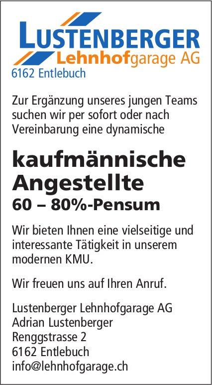 Kaufmännische Angestellte 60 – 80%-Pensum, Lustenberger Lehnhofgarage AG, Entlebuch, gesucht