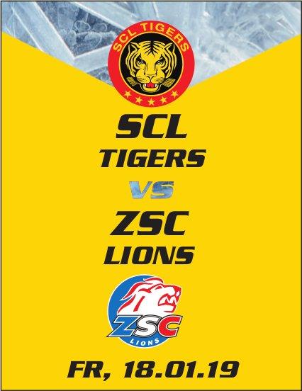 Spiel SCL TIGERS vs. ZSC LIONS, 18. Januar