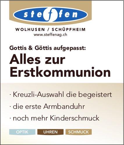 Steffen AG, Wolhusen / Schüpfheim - Alles zur Erstkommunion