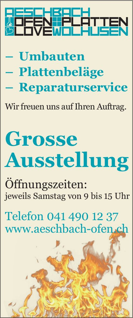 Grosse Ausstellung, Aeschbach Ofen, Platten, Wolhusen