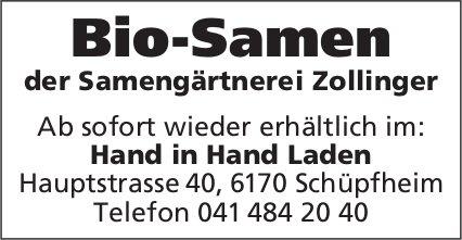 Bio-Samen der Samengärtnerei Zollinger - Hand in Hand Laden, Schüpfheim