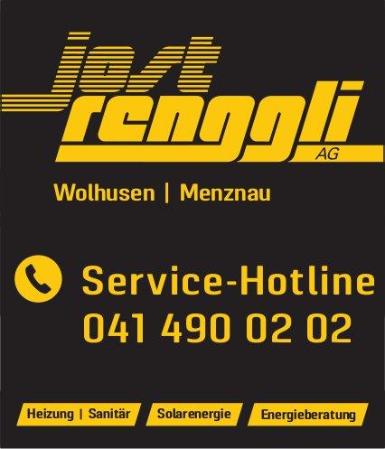 Jost Renggli AG, Wolhusen / Menznau - Service-Hotline