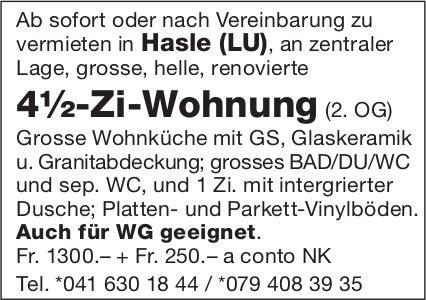 4.5-Zi-Wohnung (2. OG), Hasle LU, zu vermieten