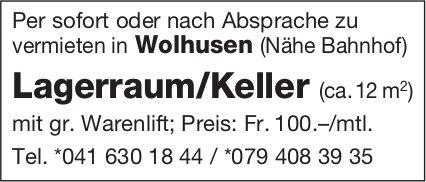 Lagerraum/Keller (ca.12 m2), Wolhusen, zu vermieten