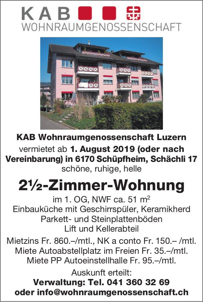 2.5-Zimmer-Wohnung, Schüpfheim, zu vermieten