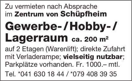 Gewerbe- / Hobby- / Lagerraum ca. 200 m2, Schüpfheim, zu vermieten