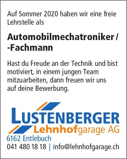 Lehrstelle, Automobilmechatroniker/-Fachmann, LUSTENBERGER Lehnhofgarage AG, Entlebuch, zu vergeben