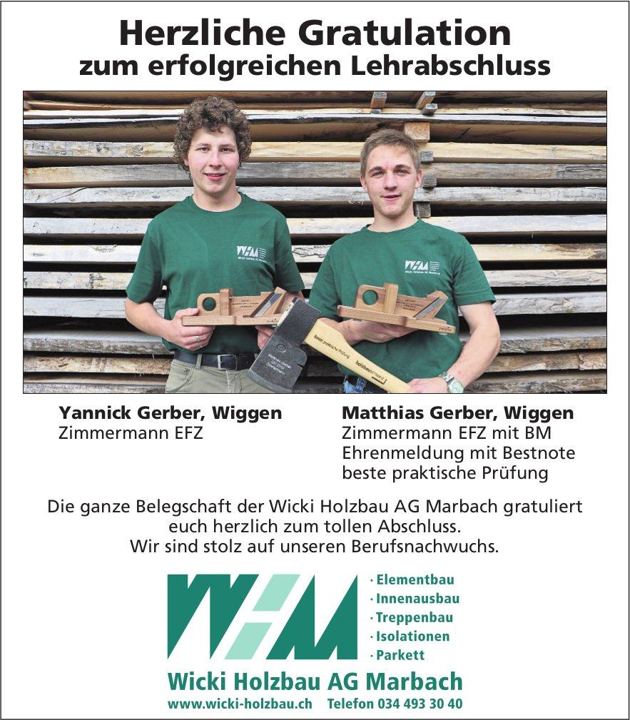 Herzliche Gratulation, Yannick Gerber & Matthias Gerber, zum erfolgreichen Lehrabschluss