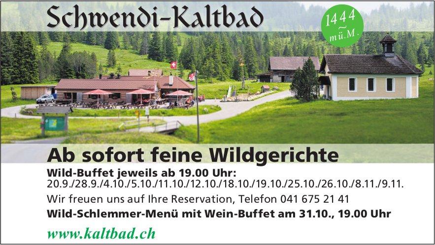 Schwendi-Kaltbad - Ab sofort feine Wildgerichte