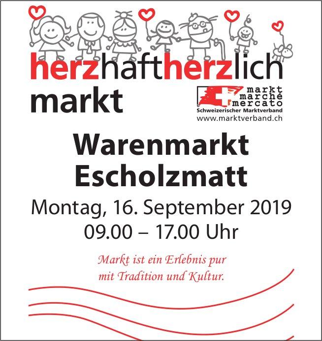 Warenmarkt, 16. September,  Escholzmatt