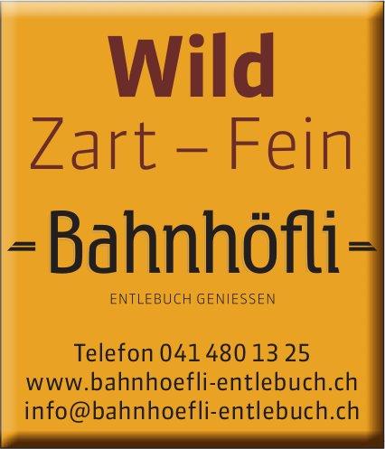 Restaurant Bahnhöfli, Entlebuch - Wild, Zart-Fein