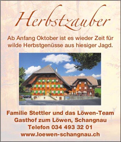 Gasthof zum Löwen, Schangnau - Anfang Oktober, Zeit für wilde Herbstgenüsse aus hiesiger Jagd