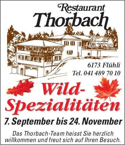 Restaurant Thorbach, Flühli - Wild-Spezialitäten, bis 24. November