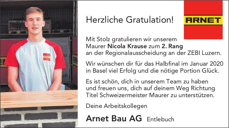 Herzliche Gratulation! Mit Stolz gratulieren wir unserem Maurer Nicola Krause zum 2. Rang...