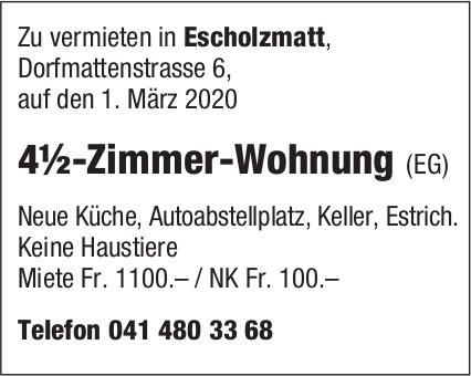 4.5-Zimmer-Wohnung (EG), Escholzmatt, zu vermieten