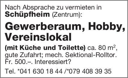 Gewerberaum, Hobby, Vereinslokal, Schüpfheim, zu vermieten