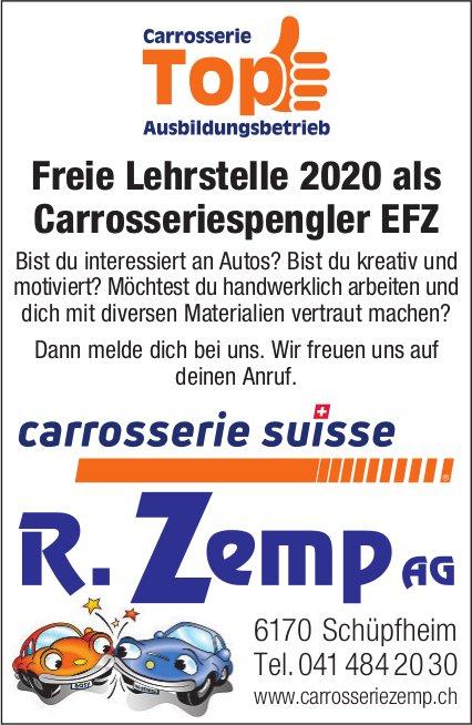 Freie Lehrstelle 2020 als Carrosseriespengler EFZ, R. Zemp AG,  Schüpfheim, zu vergeben