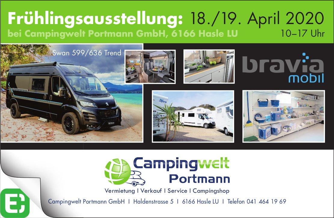 Frühlingsausstellung, 18./19.  April, Campingwelt Portmann GmbH, Hasle LU