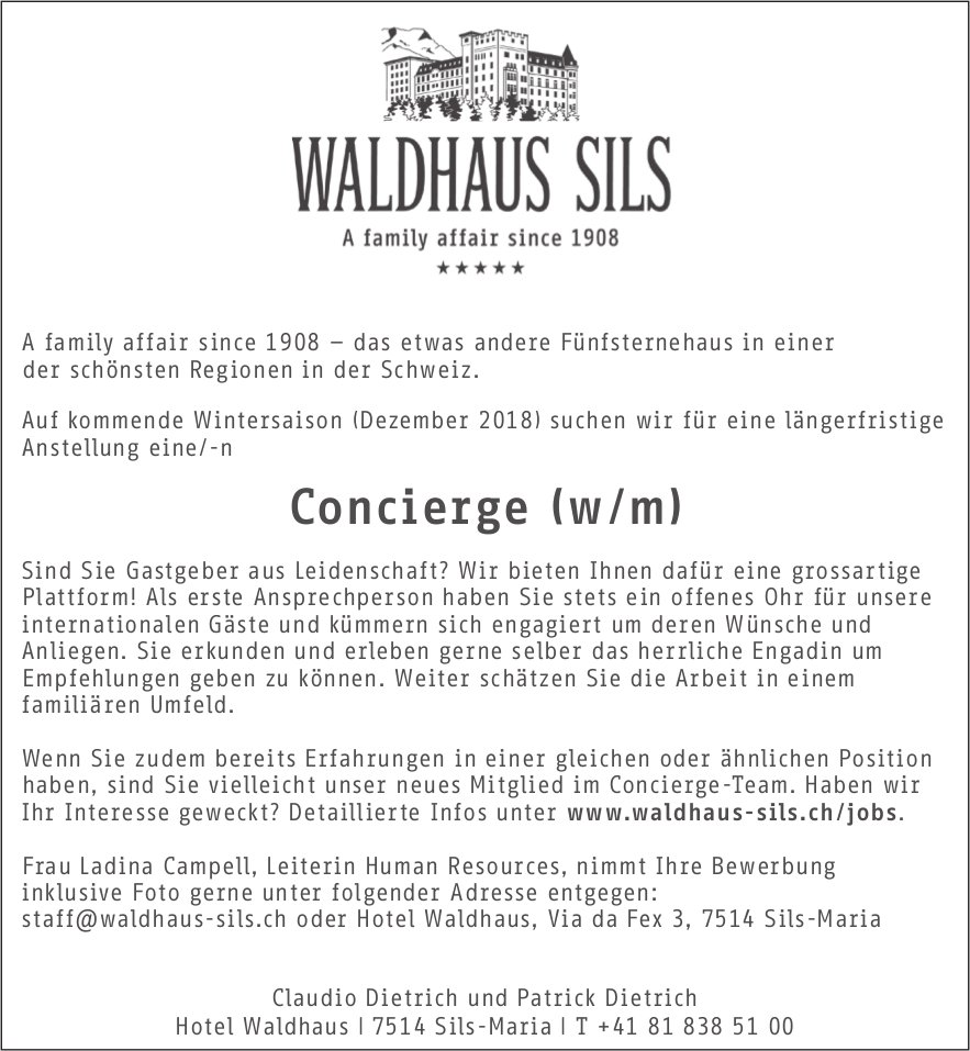 Concierge (w/m) gesucht