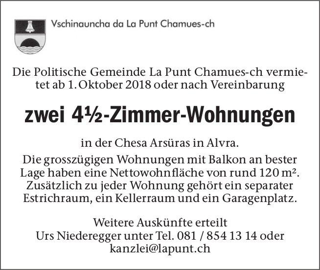 4½-Zimmer-Wohnungen zu vermieten, La Punt Chamues-ch