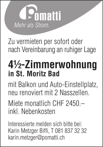 4.5-Zimmerwohnung zu vermieten, St. Moritz Bad