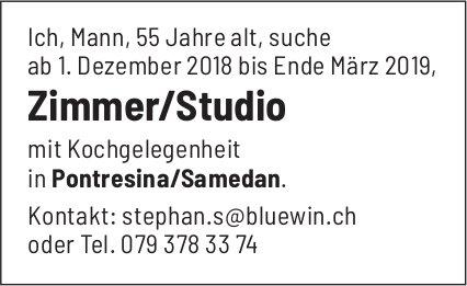 Zimmer/Studio gesucht, Pontresina/Samedan