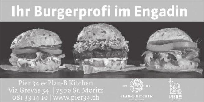 Ihr Burgerprofi im Engadin, Pier 34 & Plan-B Kitchen