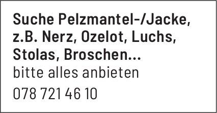 Suche Pelzmantel-/Jacke, z.B. Nerz, Ozelot etc.