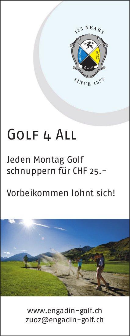 Golf 4 All jeden Montag,  Golf Engadin