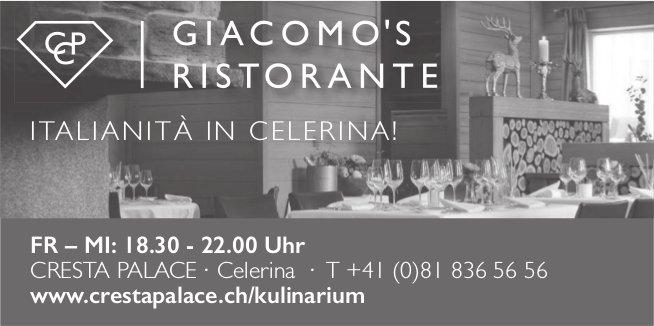 Italianità in Celerina! Giacomo's Ristorante