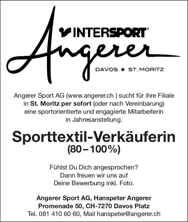 Sporttextil-Verkäuferin (80–100%) bei Intersport Angerer Sport AG gesucht