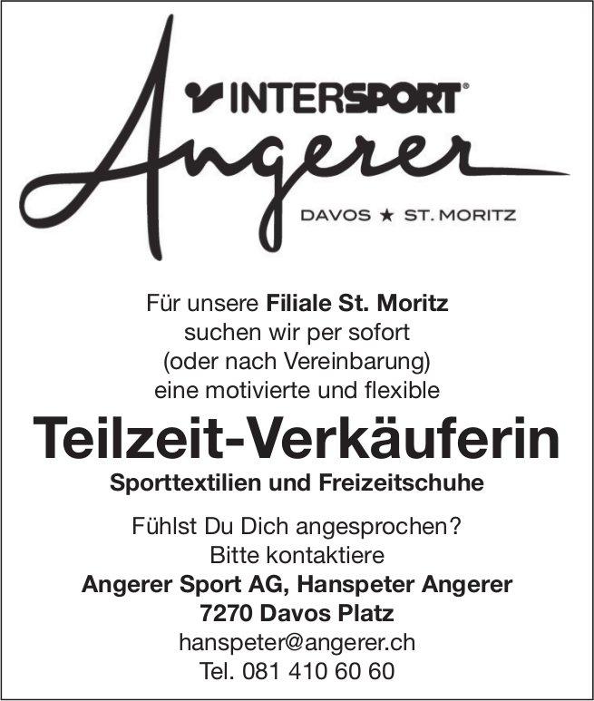 Teilzeit-Verkäuferin Sporttextilien und Freizeitschuhe bei Angerer Sport AG gesucht