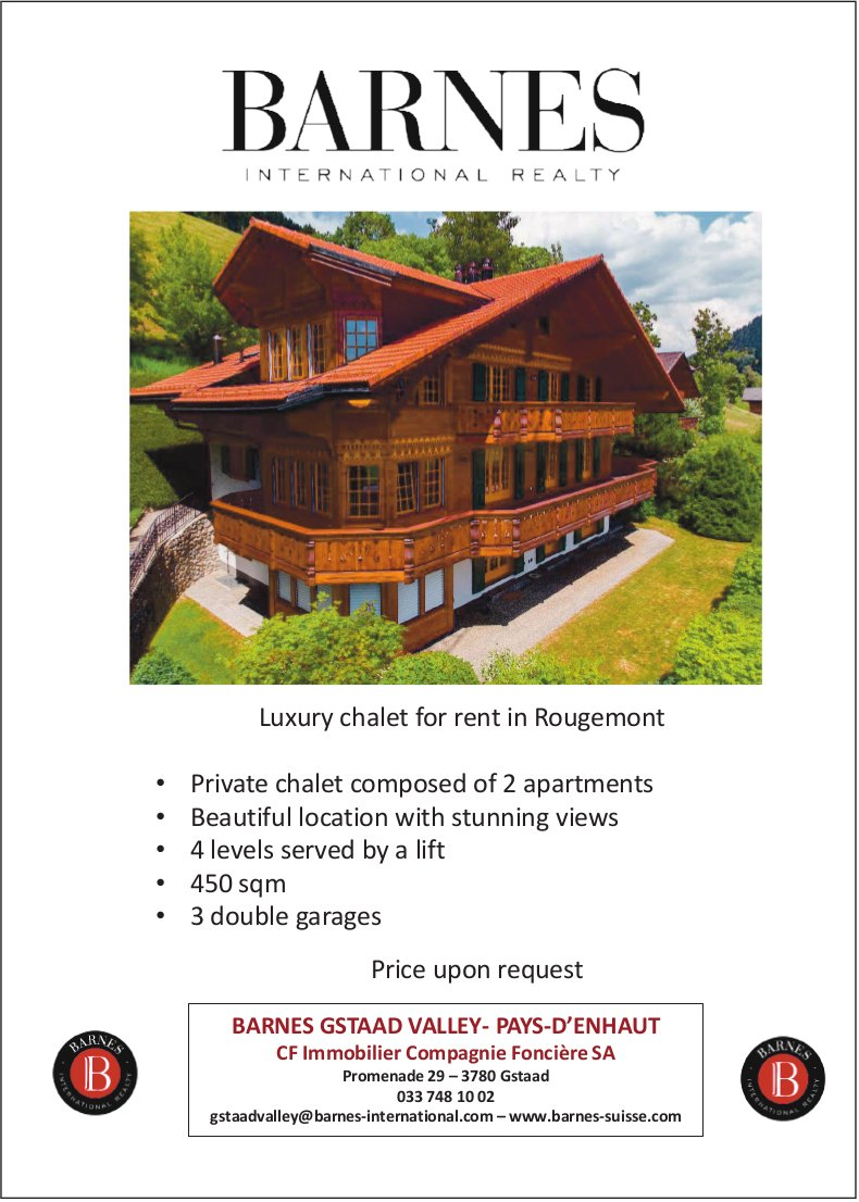 Luxury chalet for rent, Rougemont